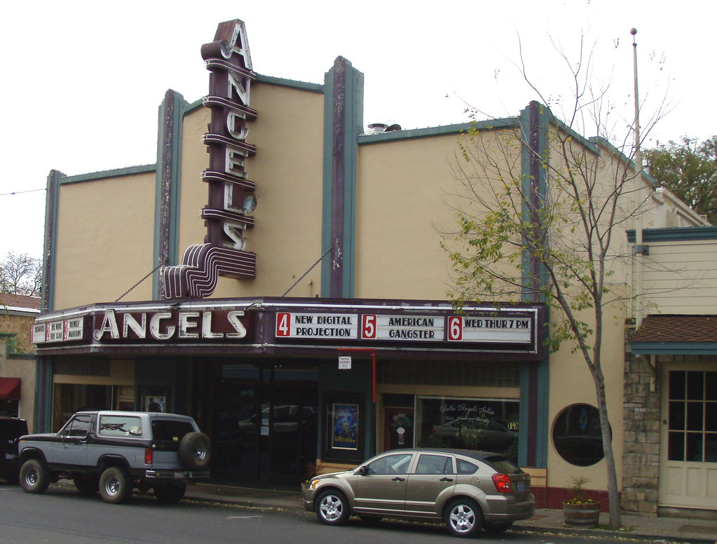 Angels Camp California Calaveras County movie theater historic main street